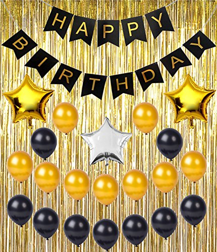 birthday-party-supplies-decoration-kit-happy-birthday-banner-metallic-gold-foil-fringe-shiny-curtain