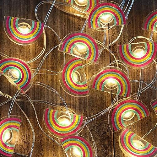 Catena di luci luminosa lampadina arcobaleno luci natalizie da esterno ed interno a batteria per festa matrimonio giardino natale