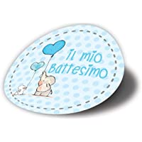 20 pezzi Adesivi Tondi Stampati, 40 millimetri, etichette, battesimo, nascita, bambino, grazie, tondo, elefante bimbo