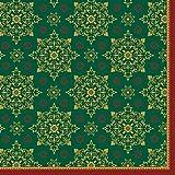 Duni 184871 Weihnachtsservietten/Servietten, Dunilin, 40 x 40 cm, 250 Stück, Dunkelgrün