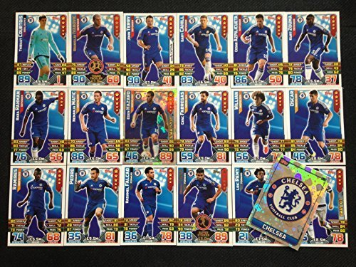 MATCH ATTAX 2015/16 CHELSEA BASE CARD SET + STAR PLAYER + BADGE +AWAY KIT CARDS by Topps -