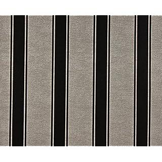 Dutch Wallcoverings 6559-7 Wallpaper Victoria Stripe, Beige/Black