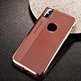 FAVELA Apple iPhone X Breath Case Ultra Thin Slim Robust PC Protective Cover Case for Apple iPhone X (Copper)