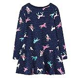 AILEESE Kleinkind Kinder Baby Mädchen Halloween schöne Jumper Rock Einhorn Striped Blume Party Kleid Casual Dance Kleider 2T-7T