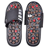 #3: LUMONY Acupressure Therapy Sandals/Foot Massager Slipper/Acupressure Foot Relaxer/Rotating Acupressure Foot Slippers for Men & Women (Free Size)