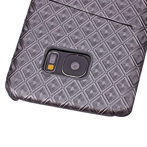 Voguecase® Pour Apple iPhone 6/6S 4,7, Rigide Plastique Shell Housse Coque Étui Case Cover(Vine motif-Marron)de Gratuit stylet l'écran aléatoire universelle Rhombus-Gris
