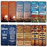 Marcadores de libros de versos de la Biblia (Be Strong & Courageous) (Paquete de 30) – Compilación práctica de textos bíblicos en idioma español