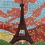 kit de mosaico, 20x20cm, Torre Eiffel