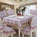 Jacquard blumen tischtuch stickerei spitze kanten european stil luxury dekoration -D 150*200cm(59x79inch)
