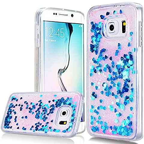 WE LOVE CASE Bling Paillette Coque Samsung S6 Edge Liquide