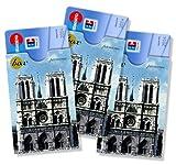 cardbox Motiv: Kathedrale NOTRE-DAME de Paris /// 3er SET /// Kreditkartenhülle, Geschenkkartenhülle, Ausweishülle