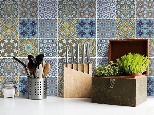 Piastrelle adesive per interni decori pellicola adesiva for Piastrelle mosaico per cucina