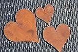 Herzen-Set 3-teilig, aus Metall