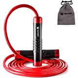 AUTUWT Weighted Skipping Rope 1LB,Heavy Jump Rope 3M Adjustable Length Bearing Tangle-Free Skipping Ropes For Adult…