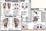 Reflexzonen-Therapie Tafel-Set: Fußsohle Seiten/Reflexzonen-Indikationen/3 Tafel