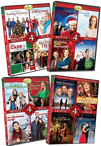 16 NEW DVD Hallmark Holiday Romance Movie Collection Set - Trading Christmas / National Tree / Santa Suit / Mistletoe Over Manhattan / Naughty or Nice / Most Wonderful Time of Year & More!
