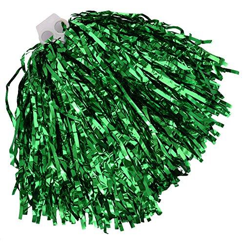 twinkbling Cheerleading Pom Poms Dance Party Kostüm Sport Cheerleader Flower Ball mit Kunststoff Griff, grün