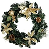 WeRChristmas - Ghirlanda natalizia, 45 cm, colore: oro