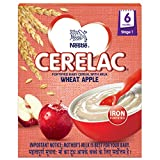 Nestlé Cerelac Fortified Baby Cereal with Milk – 6 Months+, Stage 1, Wheat Apple, 300g