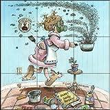 Fliesenwandbild - Königin der Küche - von Gary Patterson - Küche Aufkantung / Bad Dusche