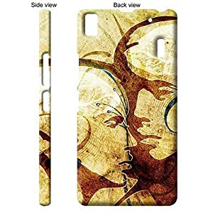 TheGiftKart Abstract Art Lovers Portrait Back Cover Case for Lenovo K3 Note - Brown