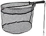 Storfisk fishing & more Fliegenfischen, Watkescher, Meerforellenkescher, Magnet-Clip Gummiertes Netz, Größe:Groß