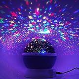 Sternenhimmel Projektor, Ubegood 360 Grad drehbar Star Projektor Romantische Nacht Lampe Projektion 4 LED Wulst für Haus, Schlafzimmer, Kinder Zimmer, Hochzeit, Geburtstag, Parteien (Blau) -