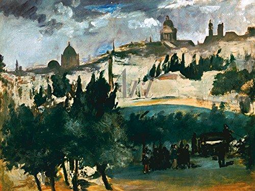 Artland Alte Meister selbstklebendes Poster Edouard Manet Bilder Die Beerdigung 1867 Wandbild Realismus Gemälde Kunstdruck 30 x 40 cm C4GO (Beerdigung Die Vinyl)