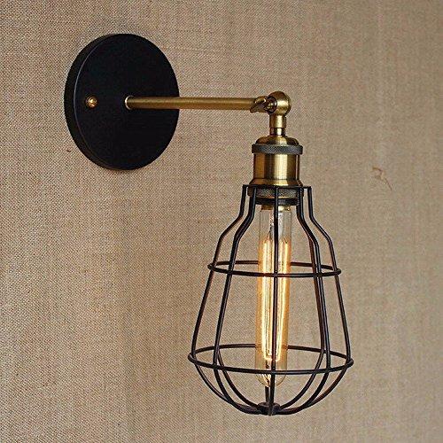Fashion antike Retro Metall Vogelkäfig Beleuchtung Wandleuchte Bedside LED Wandleuchte