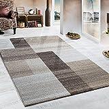 Paco Home Pesante Tappeto Tessuto Tappeto Moderno Beige Marrone Crema, Dimensione:80x250 cm