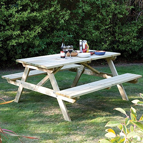 Rowlinson 5ft 6-Seater Pressure Treated Wood Picnic Bench