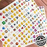 Kit da 160 Adesivi Emoticon Emoji Icone WhatsApp Smile Stickers Simaptici