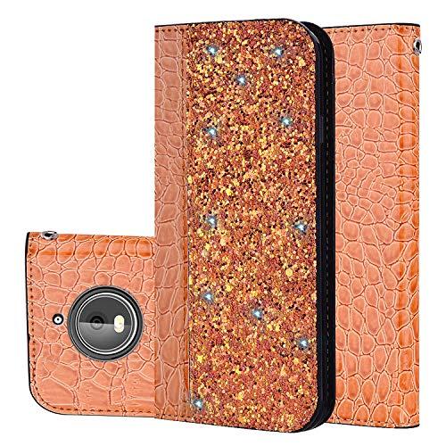 für Smartphone Motorola Moto G5S Hülle, Leder Tasche für Motorola Moto G5S (5,2 Zoll) Flip Cover Handyhülle Bookstyle mit Magnet Kartenfächer Standfunktion (1)