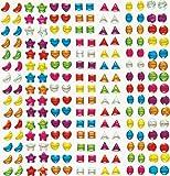 Kristall & Edelstein-Aufkleber - zum Basteln für Kinder - Sticker ideal als Dekoration - 280 Stück