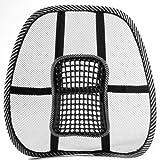 Seggiolino per auto - SODIAL(R) Mesh lombare della parte posteriore di supporto Beads massaggio per auto sedia della sede Ammortizzatore di massaggio