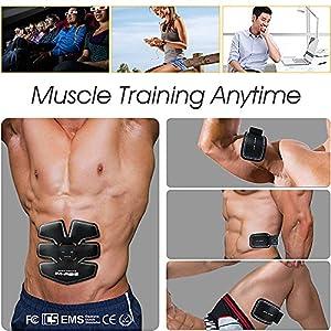 IMATE Professionelle EMS Bauchmuskel-Gürtel zu Hause Fitnesstraining Geräte, Vibration Pads für Männer und Frauen zu Tonen, Abnehmen, Trimmer, Schlank, Figurformer, Stark