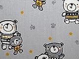 Minerva Crafts Teddy Bär Print Baumwolle Popeline Stoff