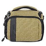 Hualieli DC21915R2 Appareil photo reflex numérique avec trois poches et une bandoulière en toile imperméable sac à bandoulière