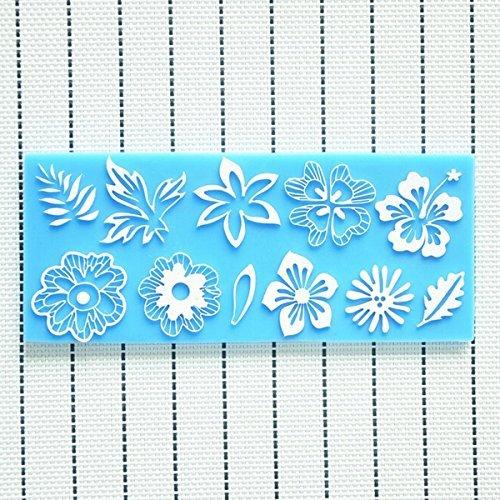 Silicone Flower Leaf Lace Cake Mold Decorations For Cakes Fondant // Flores de silicona decoraciones molde hoja pastel de encaje para las tortas de fondant by Bml