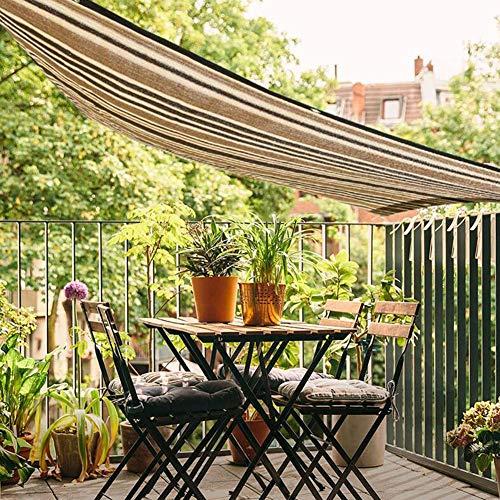 CJC Markisen Sonnenschirm Schatten Tuch Sonnenschutznetz Schatten Mesh Gewächshaus Blumen, Pflanzen, Terrasse Rasen Sonnencreme (Color : Brown, Size : 1.8x1.8m)