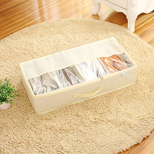 CUPWENH Speicher-Box/Lagerung Tasche Dick Kann Transparent Schuhkarton Taschen Kombiniert Werden Schuhe, Schuh Boxen, Kisten, Weißer Reis Weiß A -