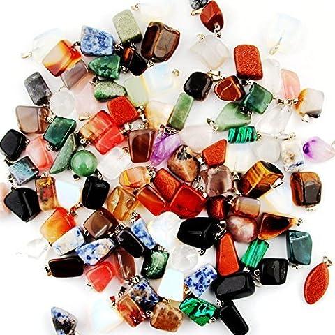 cmidy Mutil Randow forme irrégulière de guérison Perles en pierre de Cristal Quartz Collier Charms Pendentifs Pour Bijoux, Irregular