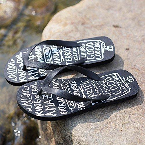 Xing Lin Sandales Pour Hommes Homme De Caractère Antidérapant Faisant Glisser De LÉté Cool Glisser Antidérapants Occasionnels Sandales Pantoufles letter