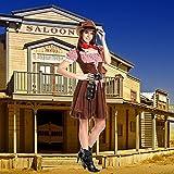 Kostümplanet® Cowgirl Kostüm + extra Halstuch Cowgirlkostüm Damen Cowboy Kostüm Größe 48/50 -