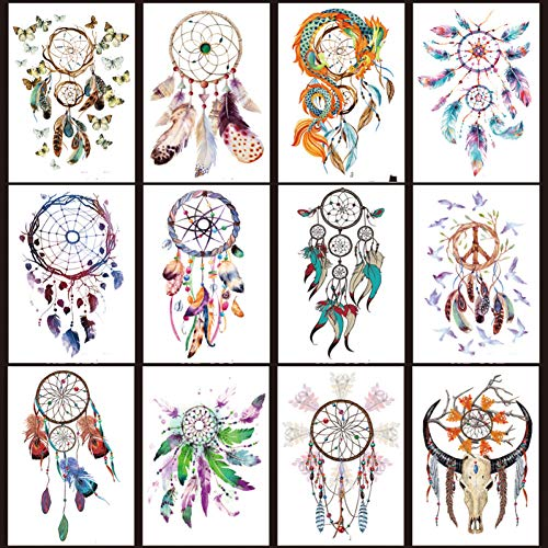 CIHKIKO 10PCTemporäre Tattoos wasserdichte Spitze Aufkleber Mandala Large Water Transfer Tattoo gefälschte Tattoo Flash Bein Arm