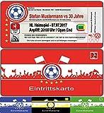 Einladungskarten als Fussballtickets zum Fussball-Geburtstag Feier Party Ticket - 10 Stück Fussballticket Karten Einladung