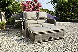 greemotion Rattan-Lounge Bahia Rondo, Sofa & Bett aus Polyrattan, indoor & outdoor, 2er Garten-Sofa mit Stahl-Gestell, Daybed, braun-beige - 3