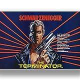 Box Prints Terminator Schwarzenegger Film Film Vintage Retro-Stil Leinwand Wand Kunstdruck Bild groß Klein