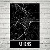 Modern Map Art Athen Poster, Athen Kunstdruck, Athen Wandkunst, Athen Karte, Athen Stadtplan, Athen Griechenland Stadtplan Kunst, Athen Geschenk, Athen Dekor, (24
