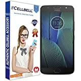 #4: CELLBELL® Tempered Glass Screen Protector For Motorola Moto G5S Plus With FREE Installation Kit